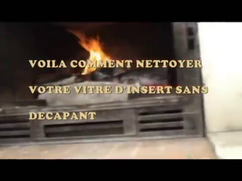 comment nettoyer une vitre d 39 insert clean your wood stove glass youtube. Black Bedroom Furniture Sets. Home Design Ideas