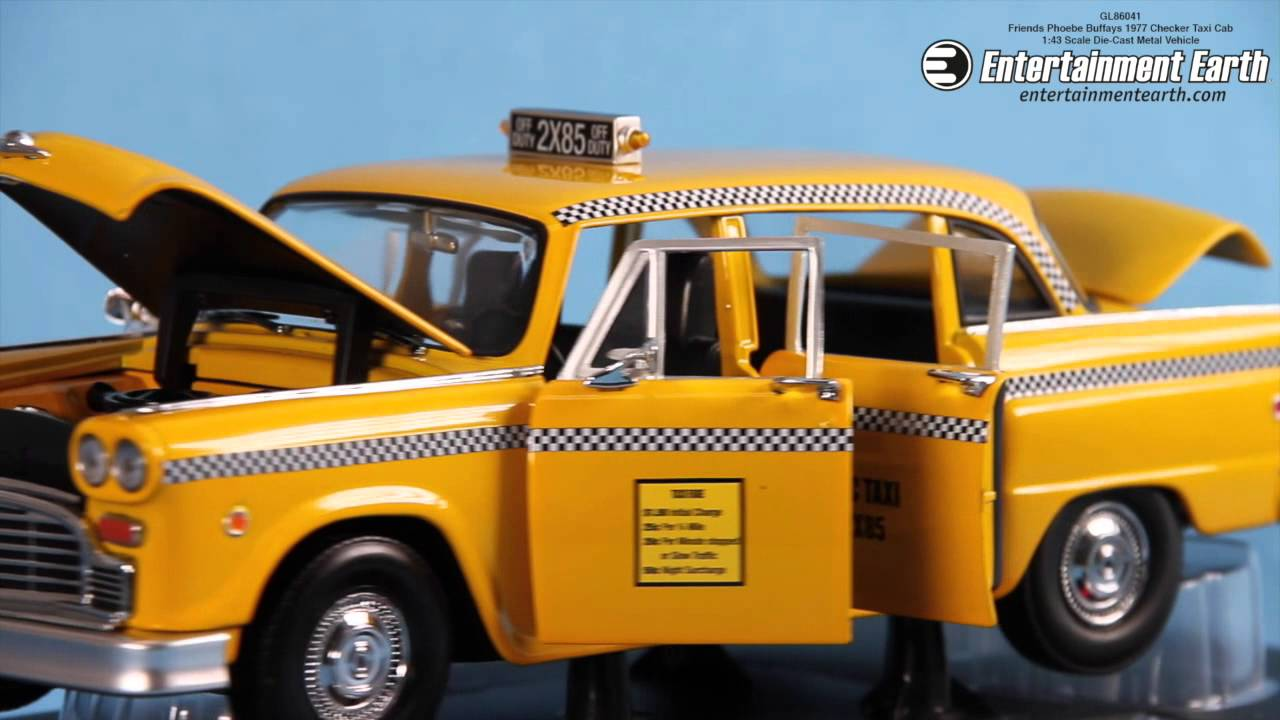 Friends Phoebe Buffays 1977 Checker Taxi Cab 1:43 Scale Die-Cast Metal  Vehicle