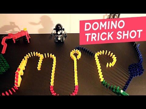 MiP Tricks - Domino Trick Shot Challenge with MiP Robot