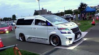 ♛👋  カスタムカー軍団様 御解散の様子 Japanese Custom cars