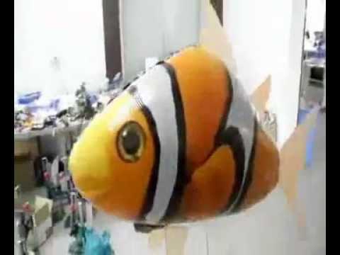 Air Swimming Clownfish Clownfish Design Nylon RC Inflatable Helium Balloon Toy