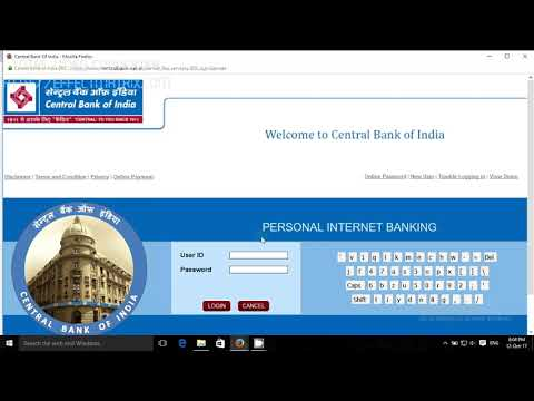 CBI Net Banking Registration T-Pin Generation | Central Bank Of India Internet Banking | CBI Online