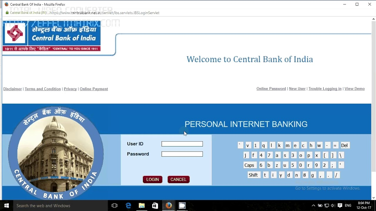 indian bank net banking online opening