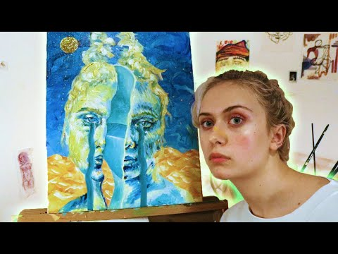 I Painted A Surrealist Self-portrait
