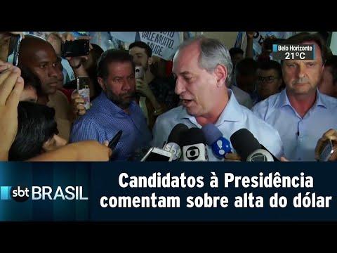 Dólar atinge maior valor desde criação do Plano Real; presenciáveis comentam alta | SBT Brasil 14/09