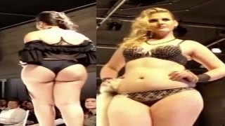 Fashion Week Plus Size 2017-Plus Size Lingerie For Woman-Fashion Show In Slow Motion. -the newest fa | FashionBigSize Dress