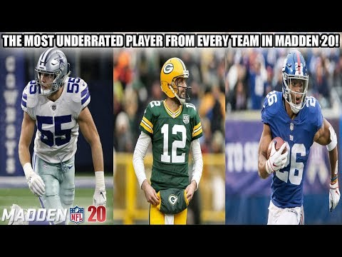 THE MOST UNDERRATED PLAYER FROM EVERY TEAM IN MADDEN 20!   MADDEN 20