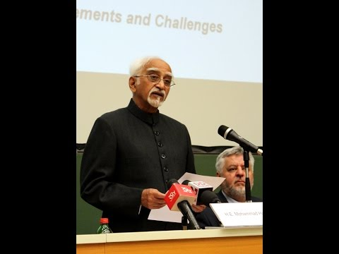Lecture of Vice President of India, His Excellency Mohammad Hamid Ansari