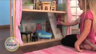 Kidkraft Girls Seaside Dollhouse With Furniture 65175