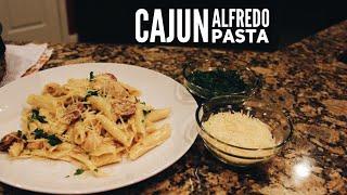 How To Make Delicious Cajun Alfredo Pasta! | EstherDees Kitchen
