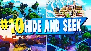 TOP 10 Best HIDE and SEEK Creative MAPS In Fortnite | Fortnite HIDE and SEEK Map CODES