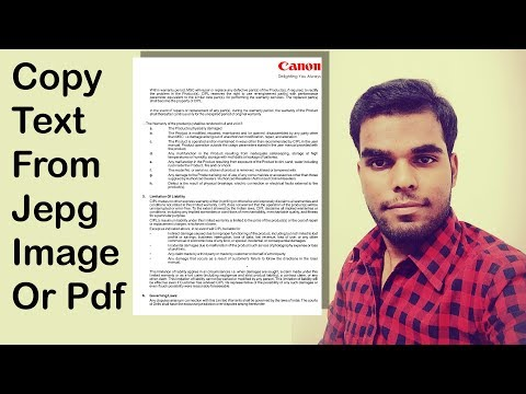 How to copy text on jpeg image in hindi video