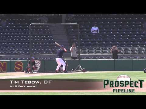 Tim Tebow Prospect Video, OF, Free Agent