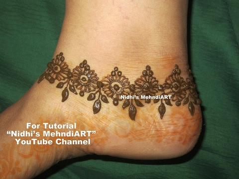 Pretty Diy Anklet Ornament Henna Mehndi Art Designs Tutorial For
