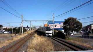 E217系 外房線 新茂原駅を通過