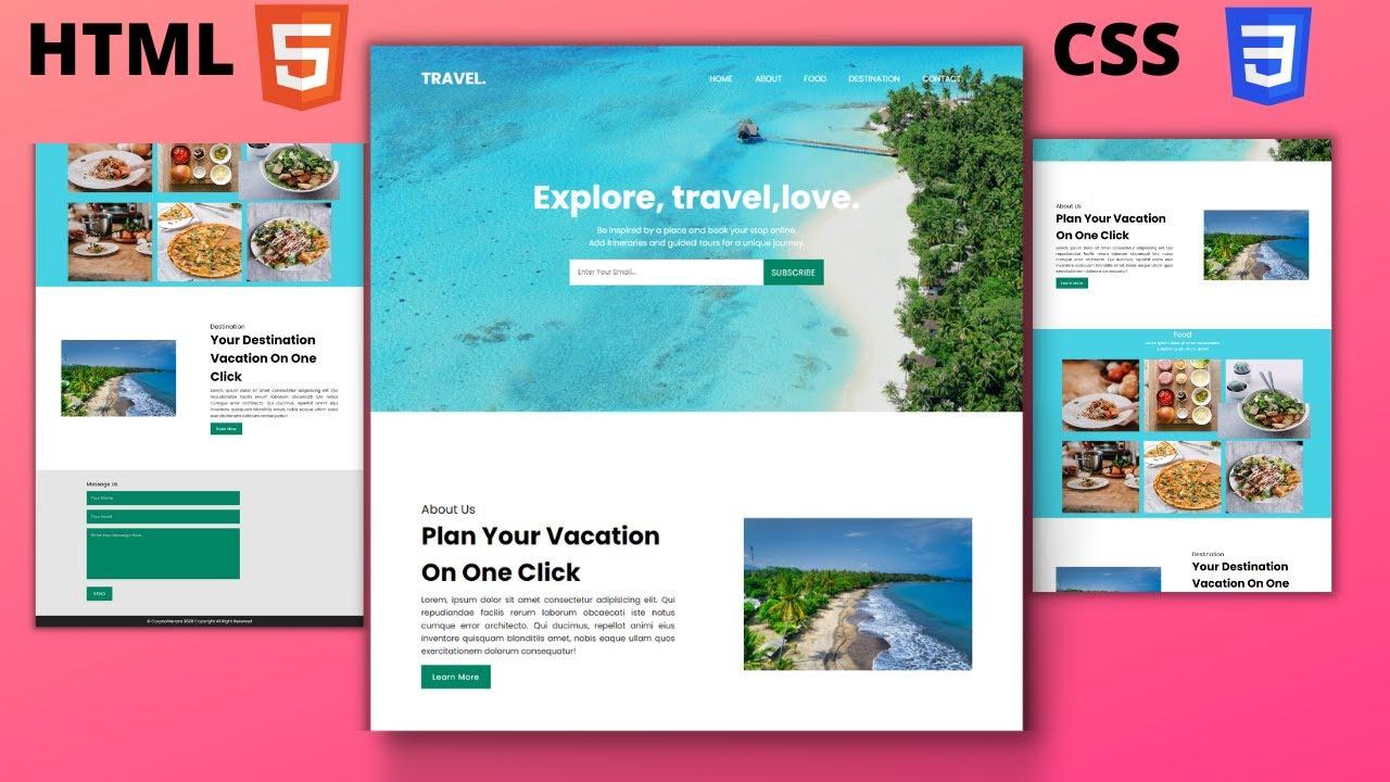 Create Responsive Website Using Only HTML CSS And JavaScript - Make Full Responsive Design Website