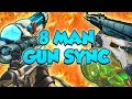 Download One of the BIGGEST Gun Sync Collabs Ever - 8 Man Gun Sync MP3 song and Music Video