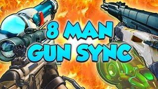One of the BIGGEST Gun Sync Collabs Ever - 8 Man Gun Sync