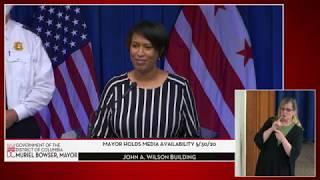 Mayor Bowser Holds Media Availability, 5/30/20