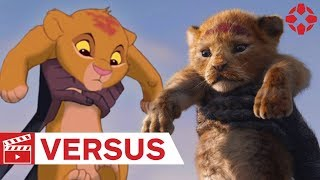 Az oroszlánkirály: A régi és az új változat egymás mellett