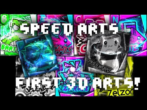 FIRST 3D PROFILE PICTURES!!!! -- Geometry Dash Profile Picture Speed Arts