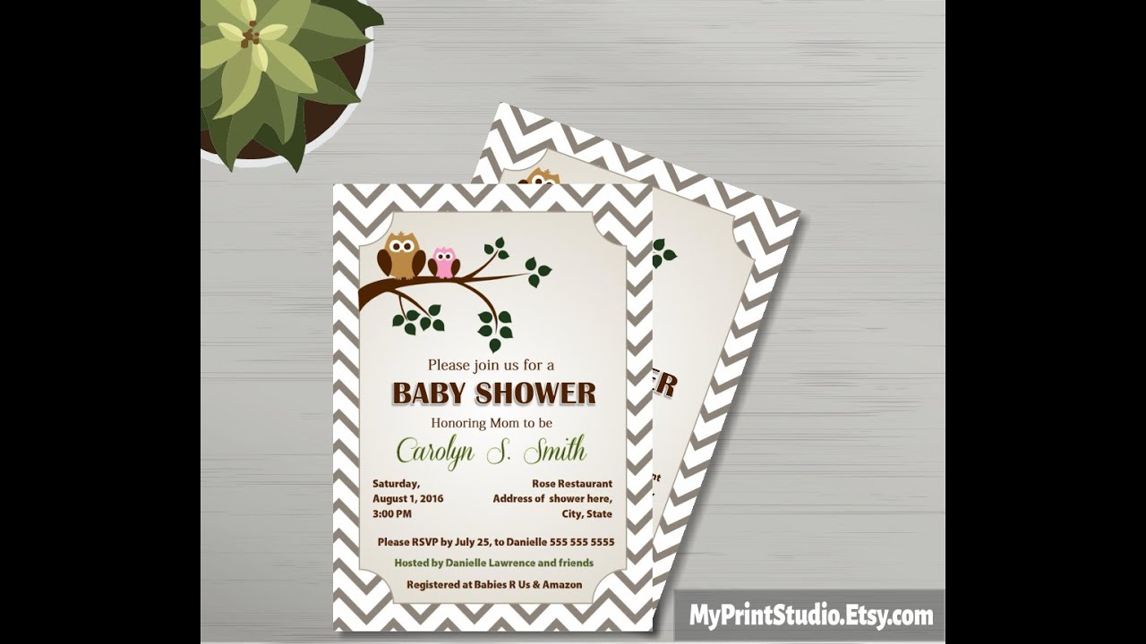 Baby Shower Invitation For MS Word YouTube – How to Make a Baby Shower Invitation on Microsoft Word
