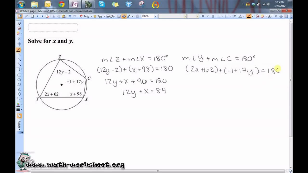 Geometry Circles Inscribed Angles Hard YouTube – Inscribed Angles Worksheet