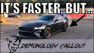 My Fastest 1/4 Mile Pass Yet in my NA 2018 Mustang GT...(Demonology Call out)
