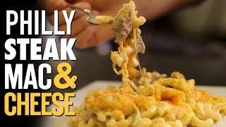 Philly Cheesesteak Mac & Cheese Recipe  |  Hellthyjunkfood