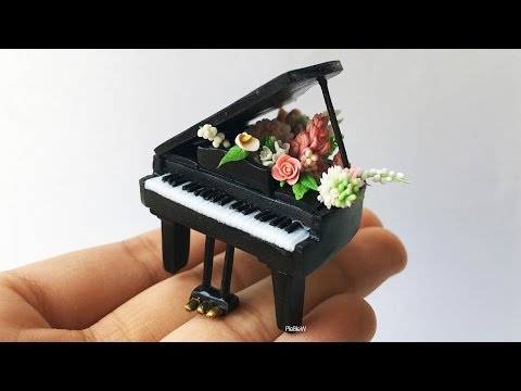Miniature Polymer Clay  Flower Piano  | Watch Me Craft!