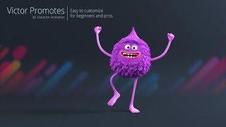 Victor Promueve - 3D, Animación de personajes ( Después de los Efectos de la Plantilla ) ★ AE Plantillas