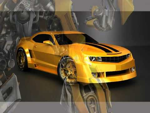 flash animation the car camaro bumblebee transformers la voiture youtube. Black Bedroom Furniture Sets. Home Design Ideas