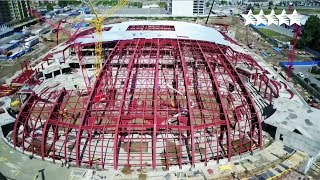 look at the Ice Arena in construction - 29th Winter Universiade 2019 in Krasnoyarsk, Russia