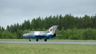Last time ever MiG-21 in Finland? - Romanian Air Force MiG-21 solo display at Tour De Sky 2016 EFKU