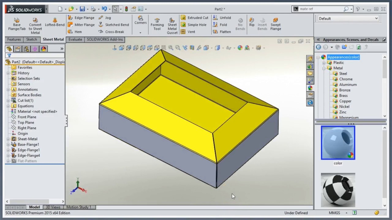 Video Tech Tip Creating Miter Flanges In Solidworks Sheet
