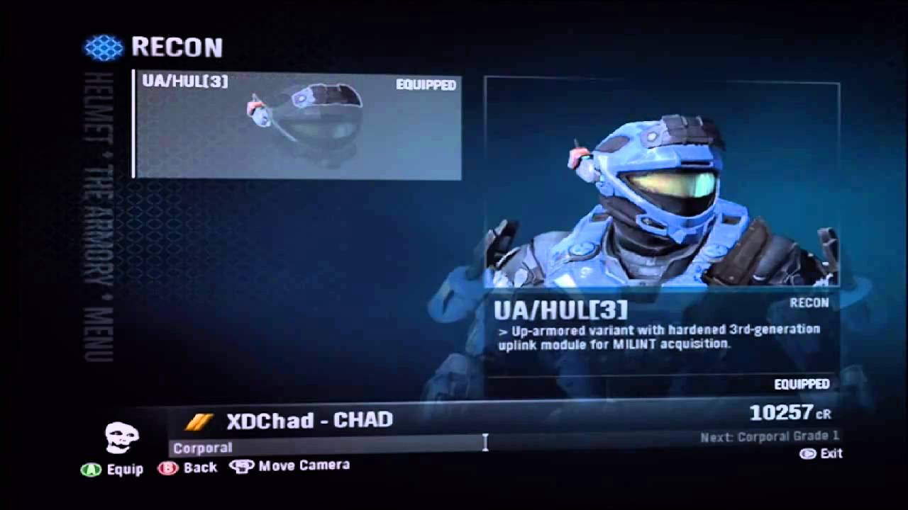 Halo Reach: Recon Helmet and Elite Officer armour!