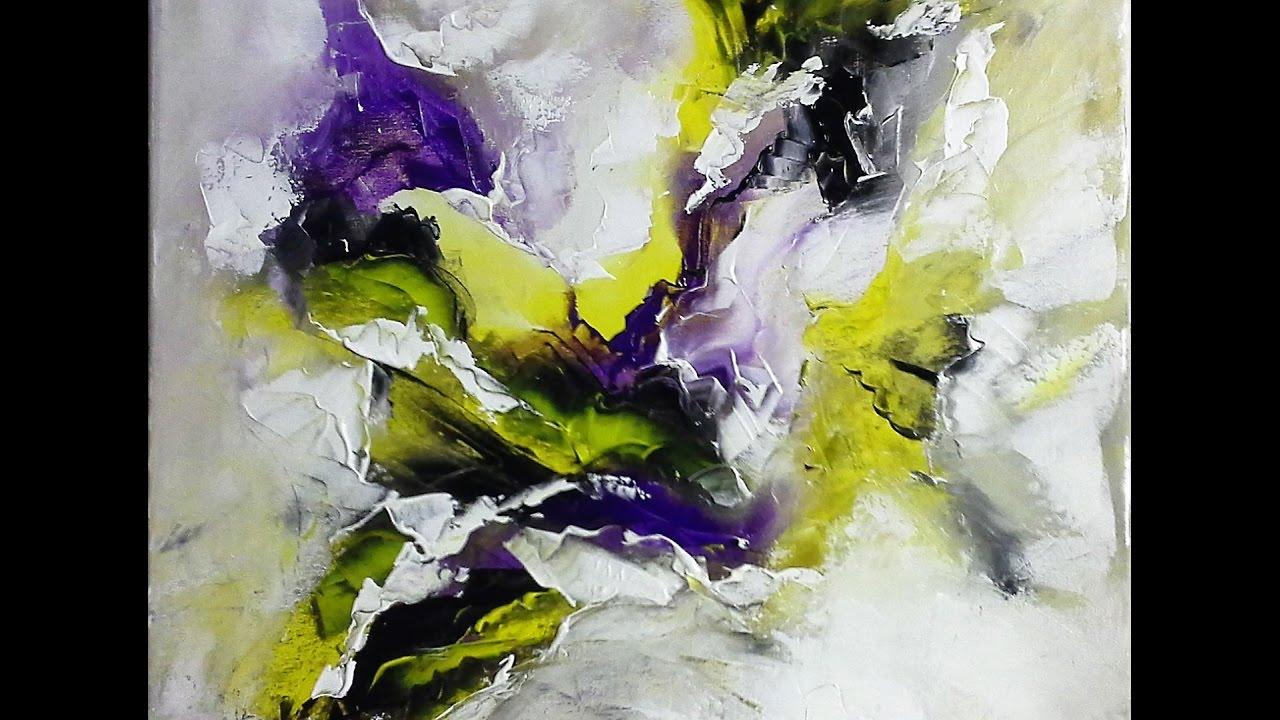 Einfach Malen Abstrakte Malerei Spachteltechnik V6 Youtube