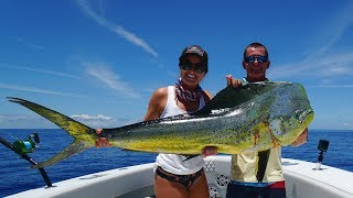 GIANT Dolphin Caught in the Bahamas! Catch Clean Cook- Mahi Mahi (Dorado)