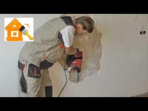 Демонтаж штукатурки - ошибки в ремонте