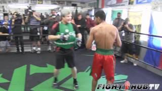 Amir Khan vs. Danny Garcia: Khan full mitt workout with Freddie Roach
