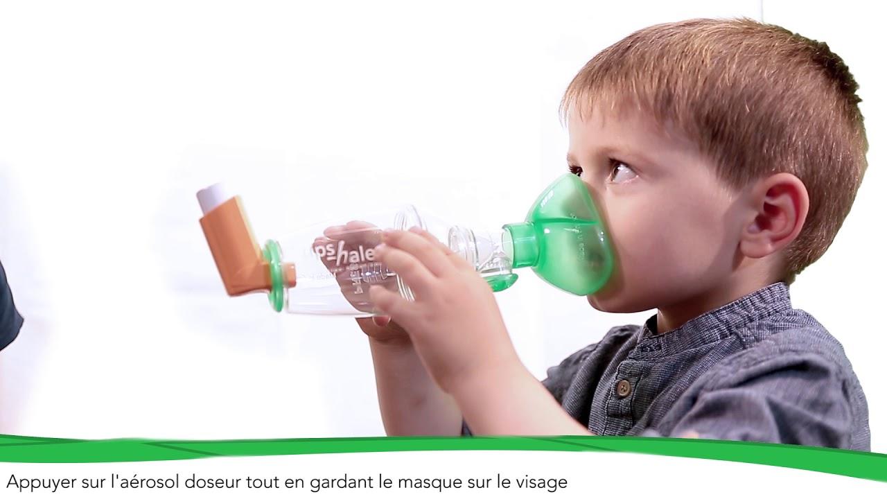 Comment utiliser une chambre dinhalation TipsHaler avec masque pdiatrique OrHal   YouTube