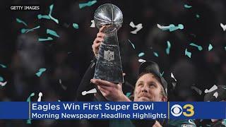New York Post Not Celebrating Eagles Win