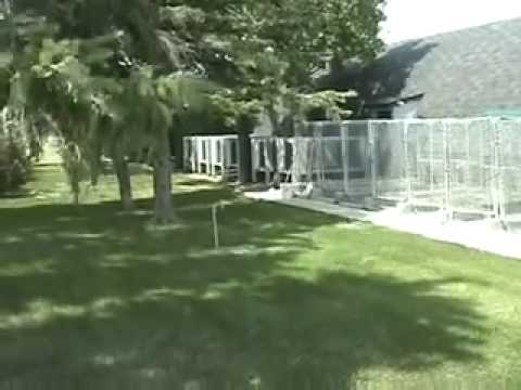 dog kennel designing and building a with a concrete floor youtube - Dog Kennel Design Ideas