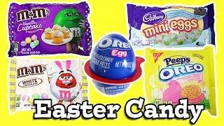 Easter Candy Taste Test Oreo Peeps, M&M's, Cadbury Mini Eggs