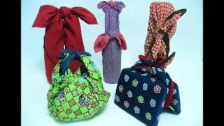 Самодельные сумки из ткани своими руками в технике фурошоки(Японские сумки из ткани или тканевые сумки в технике фурошоки. Это японская техника завязывания узлов...., 2016-01-05T21:34:39.000Z)