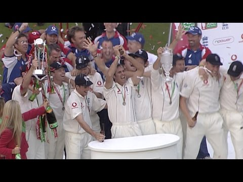Ashes 2005 highlights - England lift the urn after Oval draw