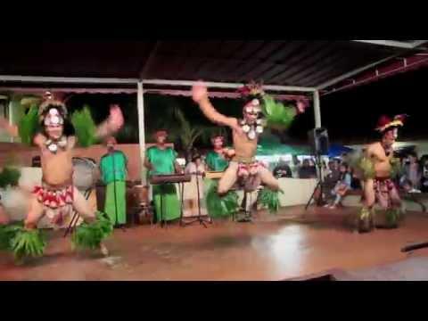 Chamorro Warriors Spear Dance in Guam.