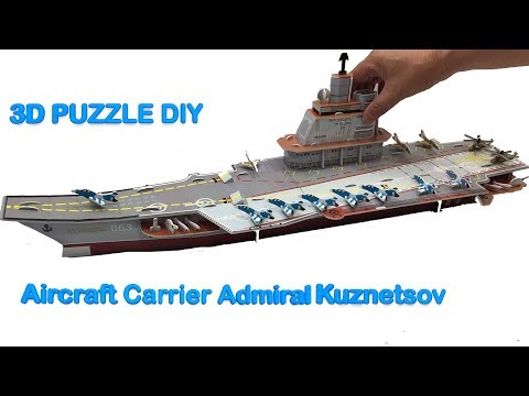 3D Puzzle DIY, Assembly Aircraft Carrier Admiral Kuznetsov