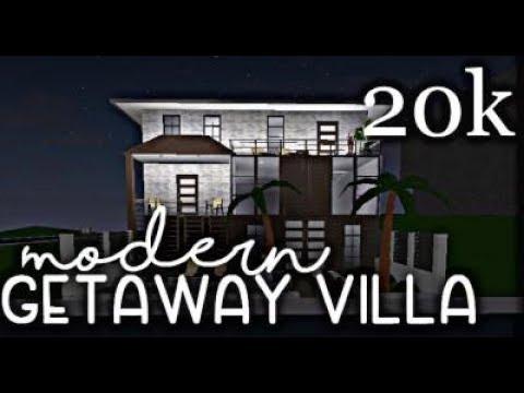 Bloxburg Modern Getaway Villa Exterior 20k Youtube