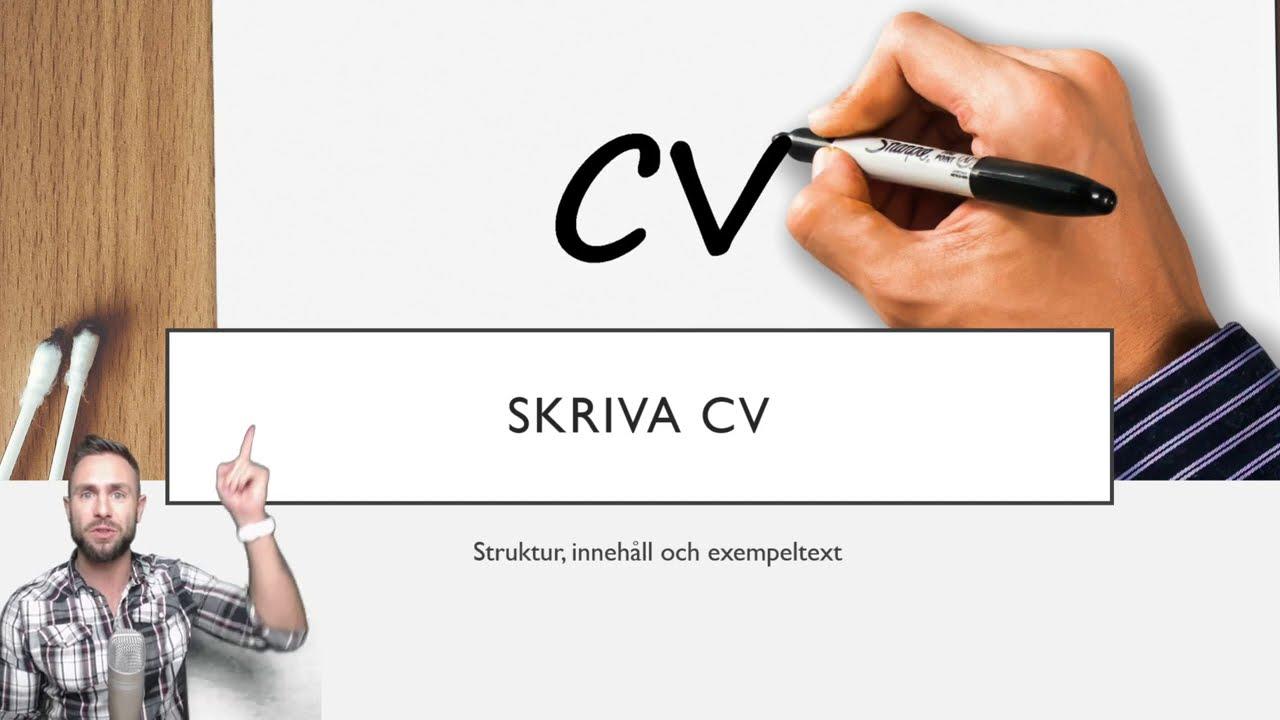 Lar Dig Skriva Pa Svenska Skriva Cv Youtube